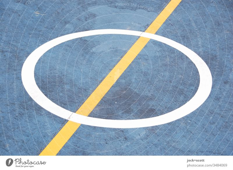 centre circle, line on the ground, game can start Basketball Basketball arena Summer Australia Plastic Line Under Watchfulness Esthetic Design Perspective