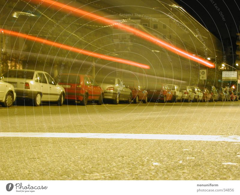 Dengdeeengdengdengdeng! Night Speed Barcelona Long exposure Car Movement Street