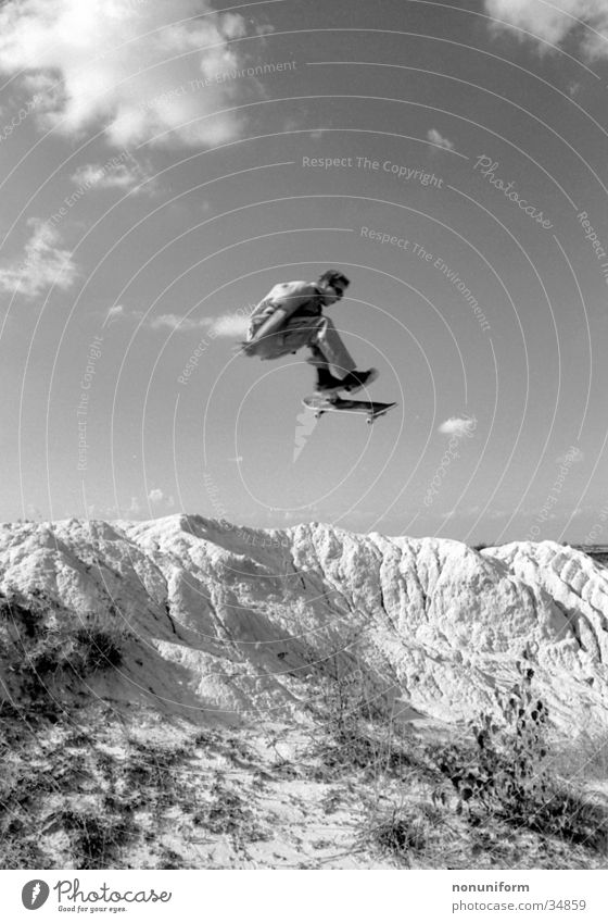 Mountain Sports Jump Tall Skateboarding Air