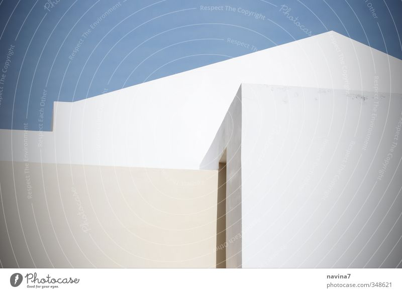 Blue White Relaxation House (Residential Structure) Wall (building) Architecture Wall (barrier) Building Living or residing Modern Esthetic Sharp-edged Greece