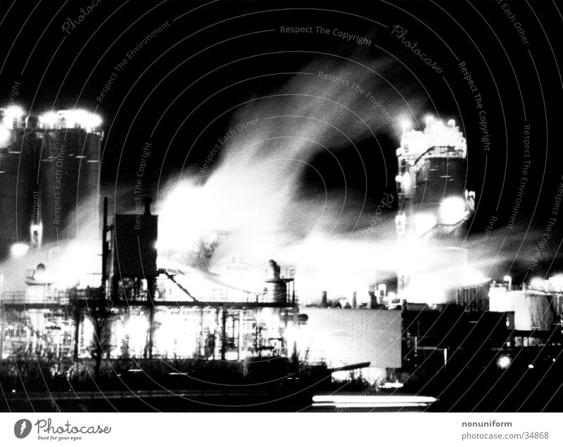 ROW in Motion Night Light Fog Chemical factory Long exposure Industry wesseling Chemistry Smoke Movement
