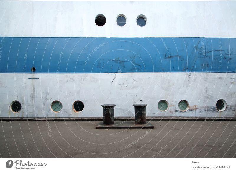 Blue Old White Gray Metal Harbour Navigation Sailing ship Porthole