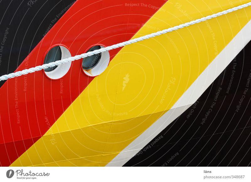 White Red Black Yellow Watercraft Line Gold Transport Rope Stripe Navigation Porthole