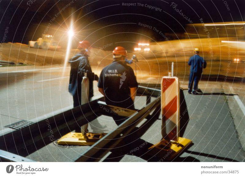 Sand Transport Safety Highway Working man Excavator Lignite Rhine-Westfalia Electricity Works AG