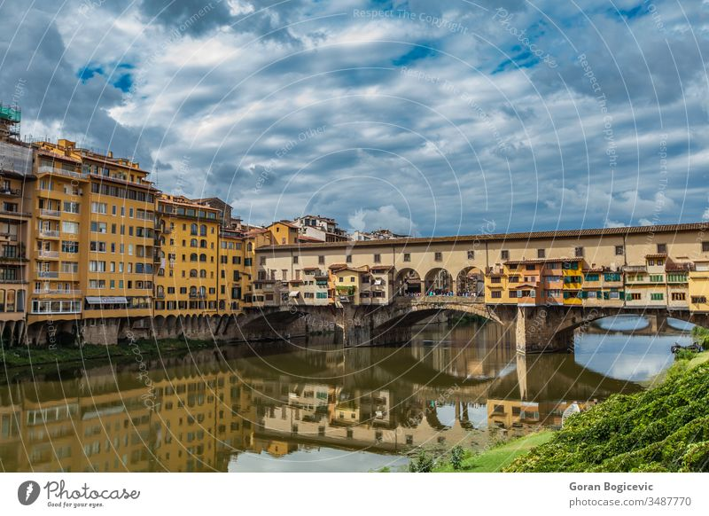 Ponte Vecchio on river Arno in Florence, Italy ancient architecture arno building cityscape destination europe european famous firenze florence historic history