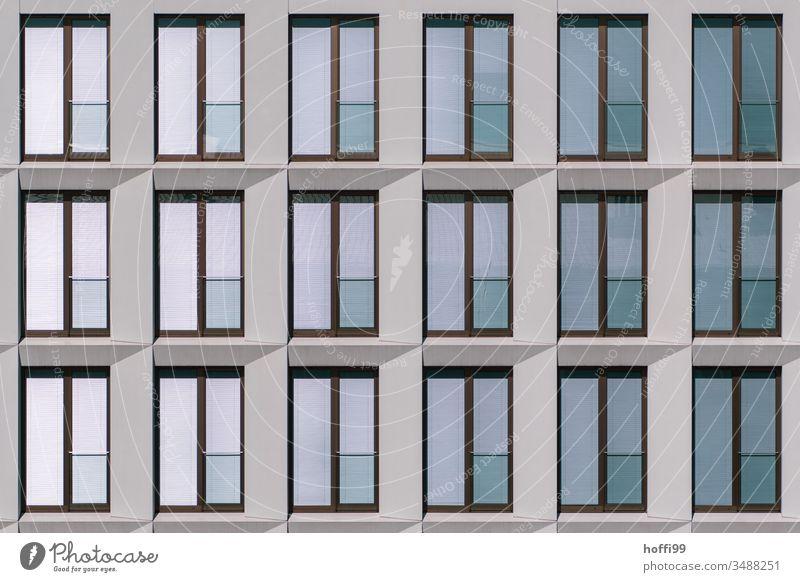 modern monotonously reflecting window facade reflective Reflection reflective surface Window pane Glazed facade Facade Glass Exterior shot Structures and shapes