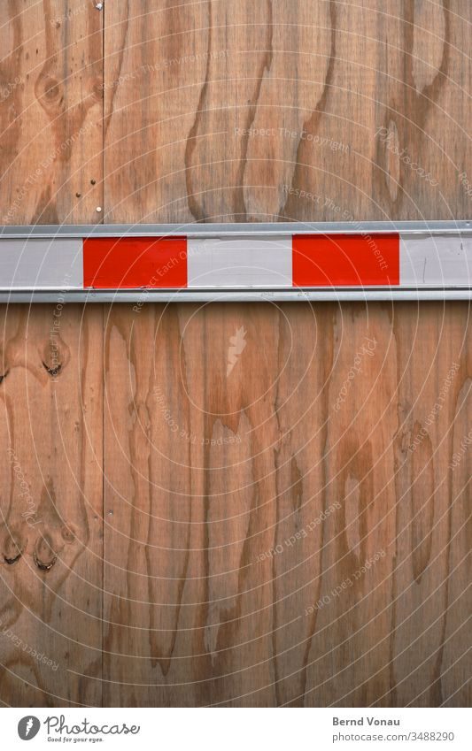 frontier maritime pine Board wood cordon Reddish white Control barrier Wood grain Construction site Barrier Exterior shot Protection Bans Structures and shapes