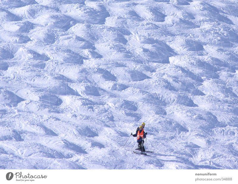 mogul worker Construction worker Ski run Sports Skiing mogul slope Snow