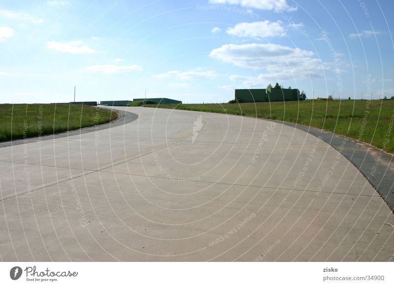 airstrip Airfield Runway Street Airport Sky Sembach