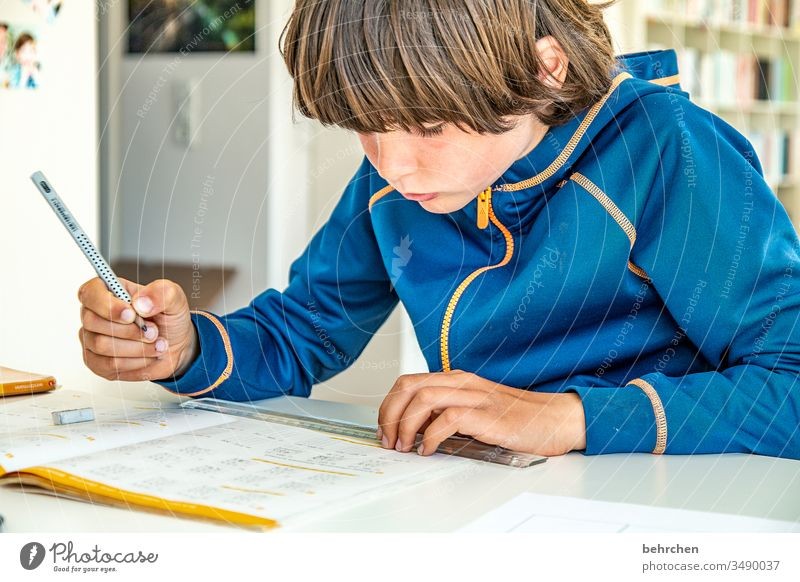 homeschooling | the last one (before it starts again) strained Effort concentrated Concentrate pens Homeschooling home office Education Calculation Write