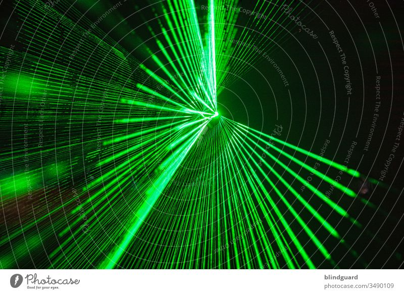 Time for a party!? Is'nt it?! Laser show at an event. Laser beam fan for disco, party, event, rave or techno party laser beam Laser beams Light Night Disco Club