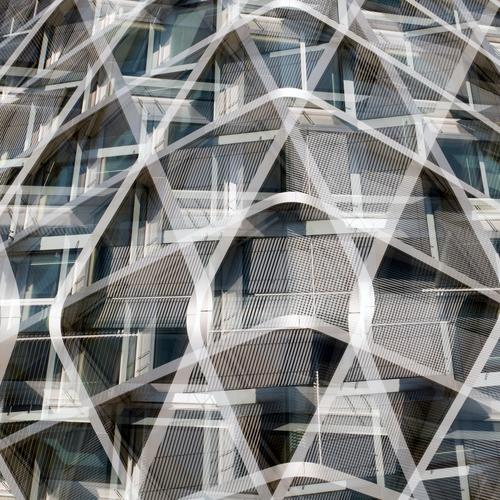Modernized Elegant Style Design Manmade structures Building Architecture Facade Metal Steel Line Esthetic Exceptional Hip & trendy Uniqueness New Crazy Gray