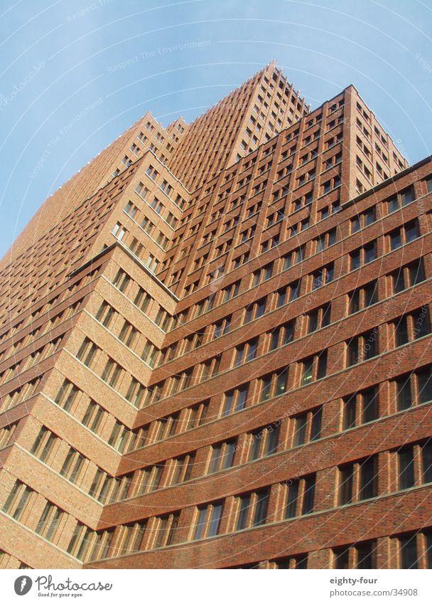 Sky Berlin Window Stone Architecture Corner Brick Prongs Office building Potsdamer Platz