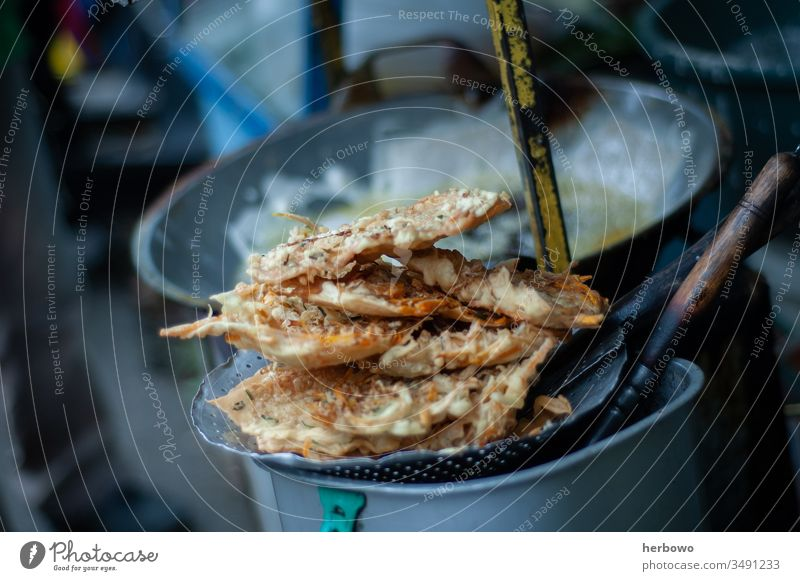 picture of gorengan, traditional indonesian street food deep fried in oil. Asia Indonesia Java Food hawker traditional food Snack tasty fried food