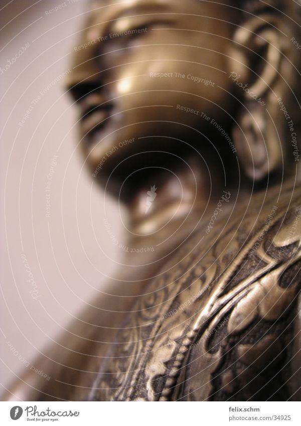 Buddha concrete Metal Ornament Peaceful Goodness Wisdom Contentment Serene Inspiration Religion and faith Life Nature Calm Senses Bronze Statue Buddhism