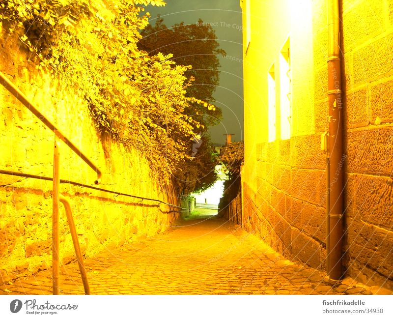 golden mean Marburg Night Alley Long exposure Summer Architecture Lanes & trails
