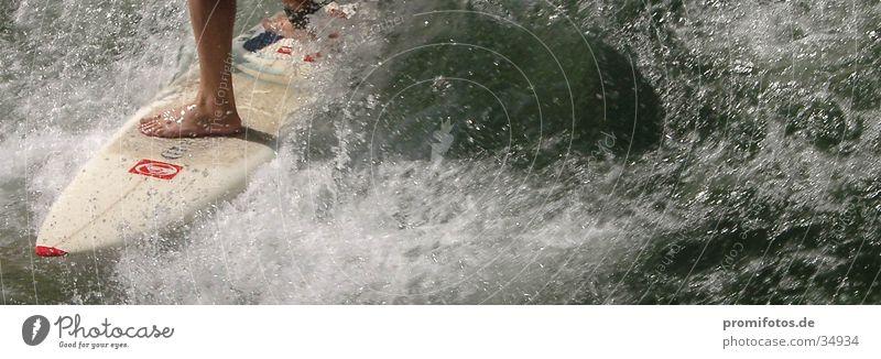 Water Sports Waves Surfer White crest Surfboard