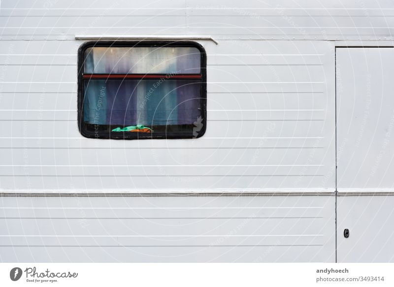 With the old camper around the world adventure Auto Background car caravan closed colorful copy space curtain design destination door entrance explore free