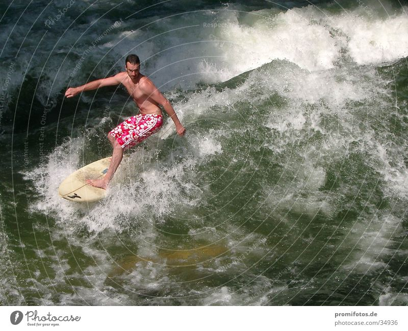 Watch out for surfers! Surfer Waves White crest Surfboard Sports Water