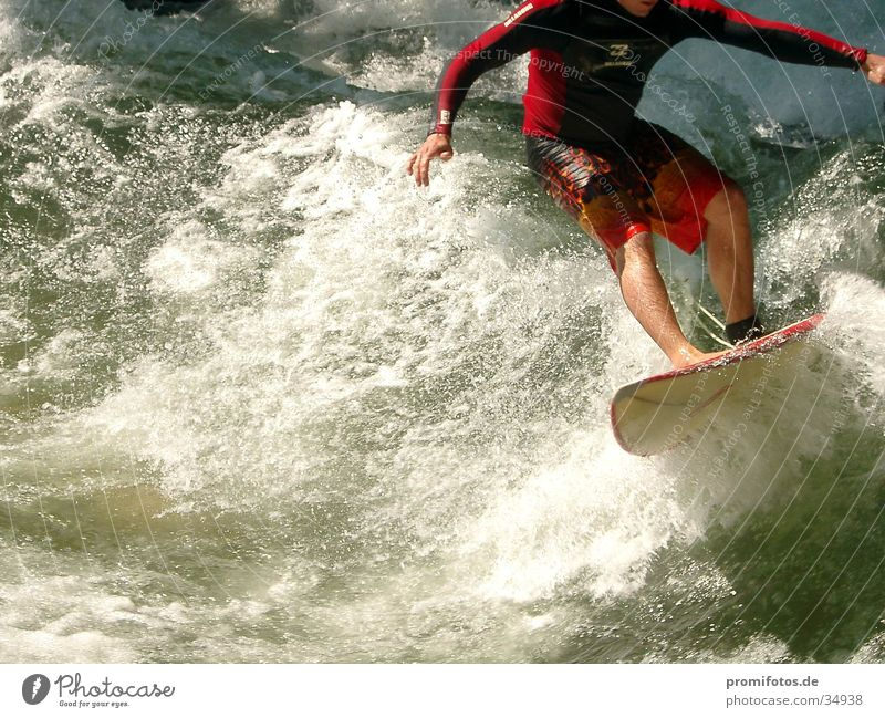 Water Sports Waves Surfer White crest Headless Surfboard