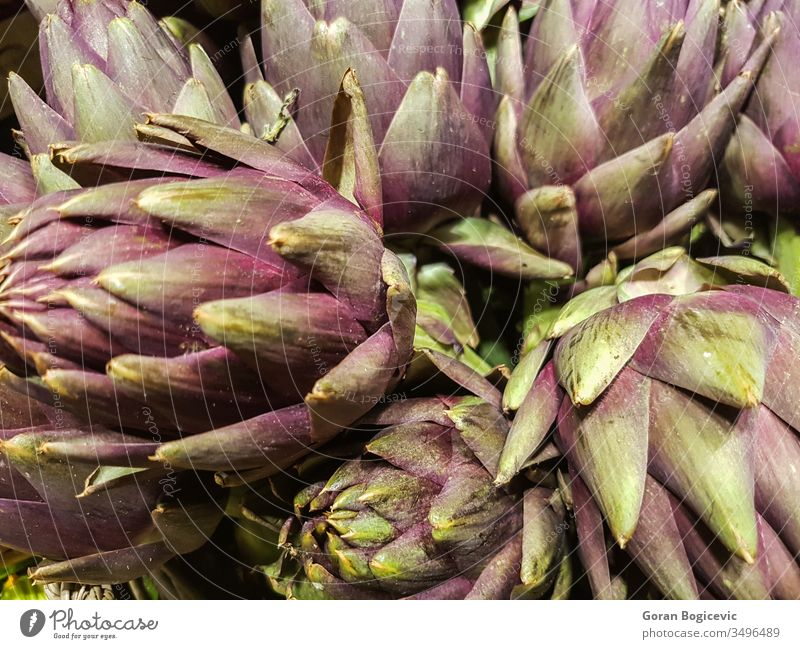Artichokes on the market freshness food plant organic healthy nature nutrition green farm vegetable raw natural nobody traditional italian agriculture