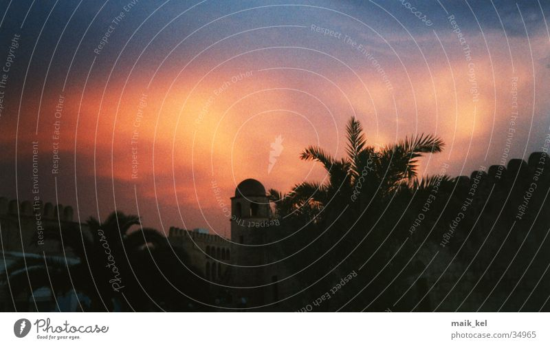 Sky Lamp Dusk Tunisia