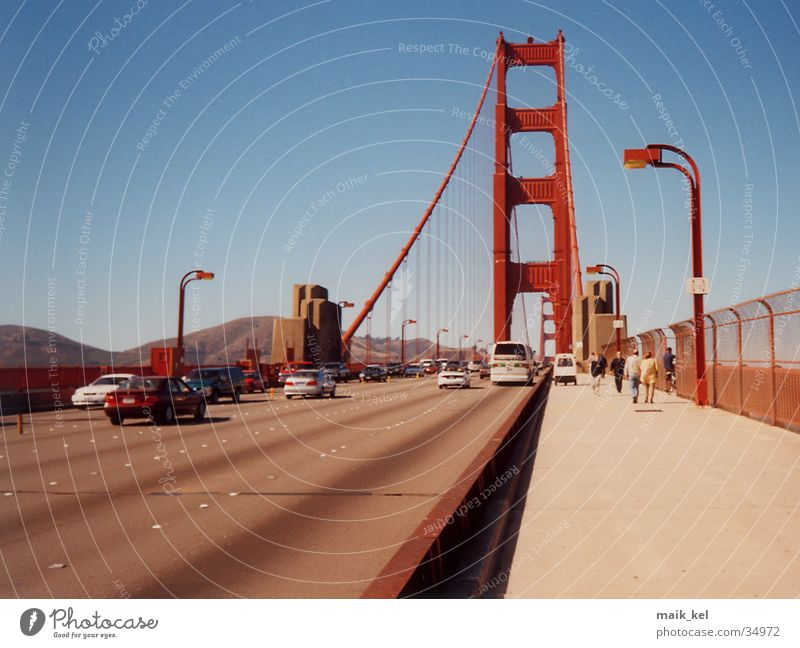 Bridge USA California San Francisco Suspension bridge Golden Gate Bridge