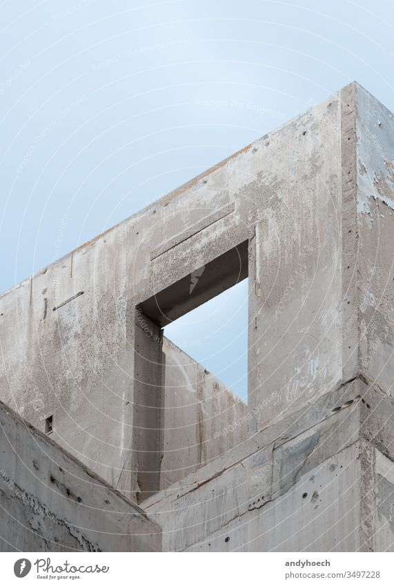 The doorframe of a new shell construction abstract architecture Berlin budget building Business buy city concept concrete construction industry
