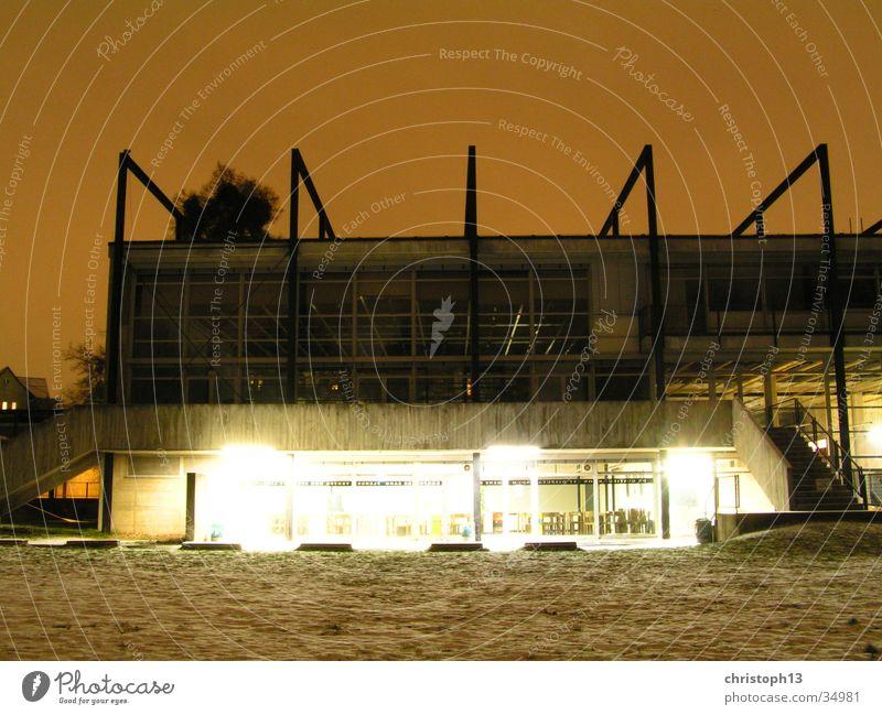 moon station Long exposure Winter Night Architecture HBK Kassel Sky Light Snow Surrealism