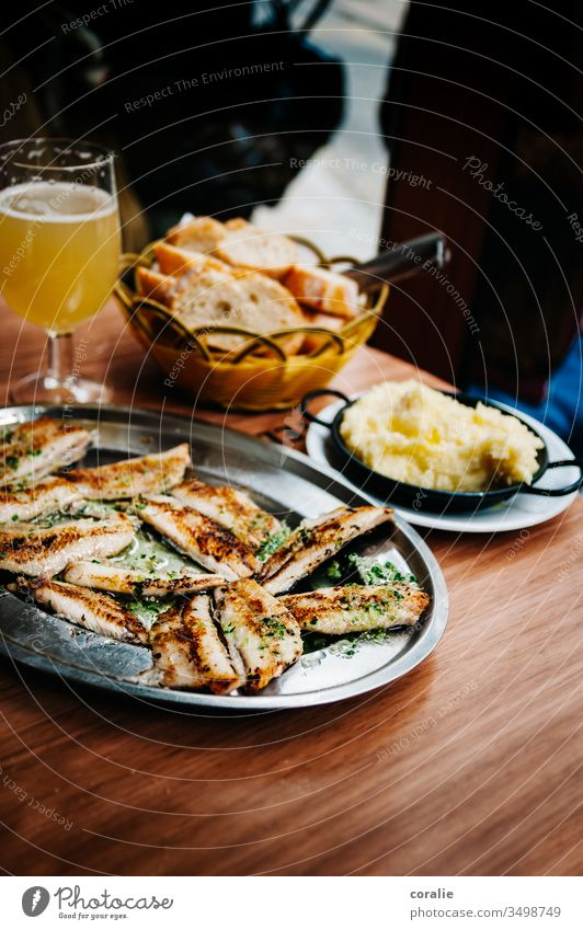Spanish tapas on a wooden table Tapas Spain street food Food photograph appetizing Lunch Dinner Mediterranean Snack Dish Gourmet Restaurant Delicious Meal