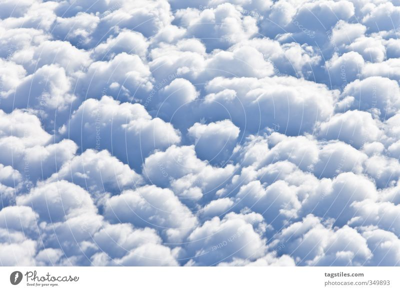 bright and cloudy Clouds Cumulus Cheerful cheerful to cloudy Flying Aviation Above the clouds Vacation & Travel Travel photography Tourism Itinerary