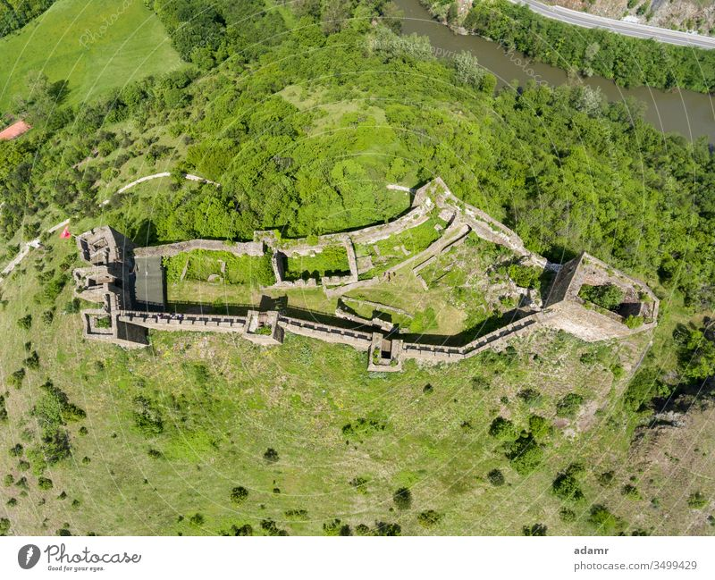Maglic Castle, fortress built in 13th Century, Kraljevo, Serbia architecture aerial Ibar building old tourism landscape view travel Europe town landmark