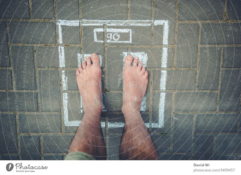 Scale - Reading the weight Weight read Fitness Good intentions Overweight 90 kg Body Fat Diet Colour photo Kilogram Weight problems Healthy Healthy Eating