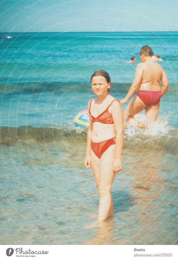 Human being Child Water Sun Beach Joy Sand Swimming & Bathing