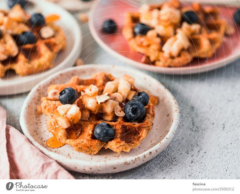 Healthy Gluten Free Oat Waffles. Copy Space oat waffles copy space belgian waffle healthy eating gluten-free oatmeal appetizing easy baked bakery delicious