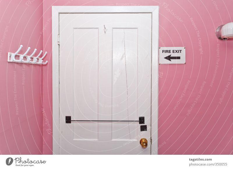Architecture Interior design Lamp Pink Room Door Safety Card Trashy Canada Wooden door Clothes peg Emergency exit Escape route Room door
