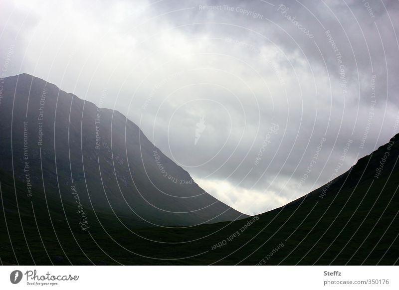 mystery Eerie eerie silence Hill Nordic Nordic romanticism Glencoe Glen Coe Scotland Fog Rock Northern Europe Dark Gray Dream Loneliness Misty atmosphere somber