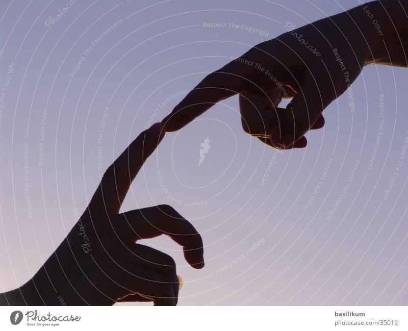 E.T. Hand Fingers Touch Sunset Human being fingertips Date e.t. michelangelo
