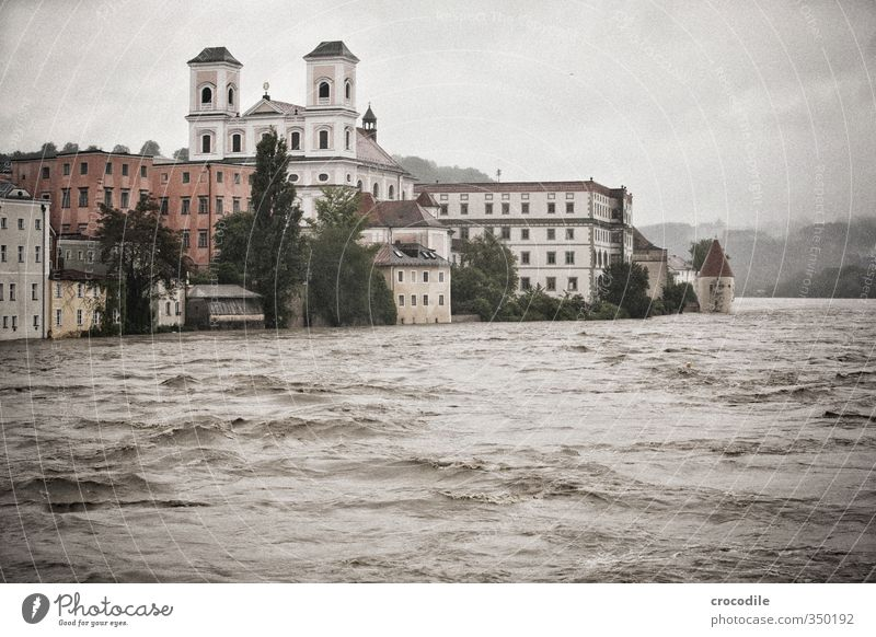 Passau Floods 2013 -4 Environment Nature Elements Water Bad weather Storm Rain River Danube House (Residential Structure) Detached house Horror Distress Respect