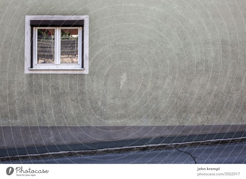 Willingness to spray Wall (building) Window Gray Village Building Subdued colour Old Facade Deserted Exterior shot Gloomy Transience Wall (barrier) Decline