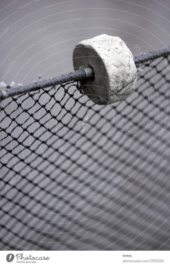 Old Gray Above Metal Arrangement Simple Broken Protection Round Network Plastic Fence Net Attachment Border Puzzle