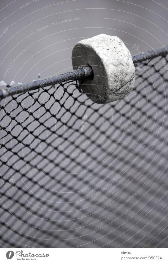 Sailor's Deco Fence Net Network Loop Metal Plastic Old Simple Broken Above Round Gray Arrangement Puzzle Protection Attachment Maritime Border