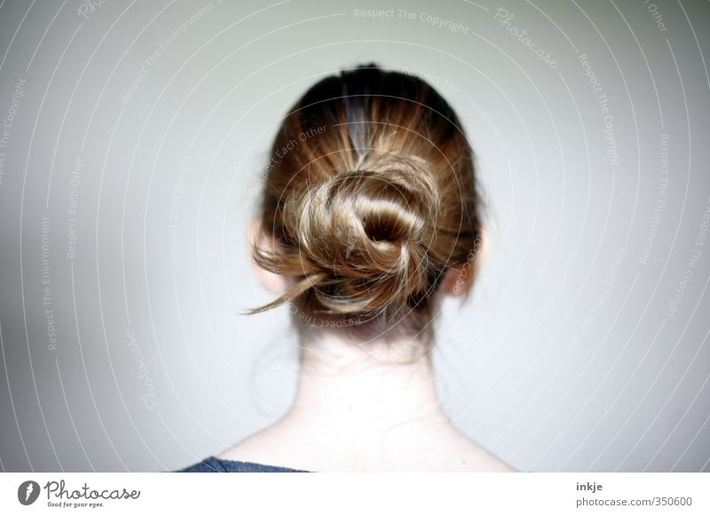 Women's back of the head with chignon Style Girl Young woman Youth (Young adults) Infancy Life Head Hair and hairstyles 1 Human being 13 - 18 years Child