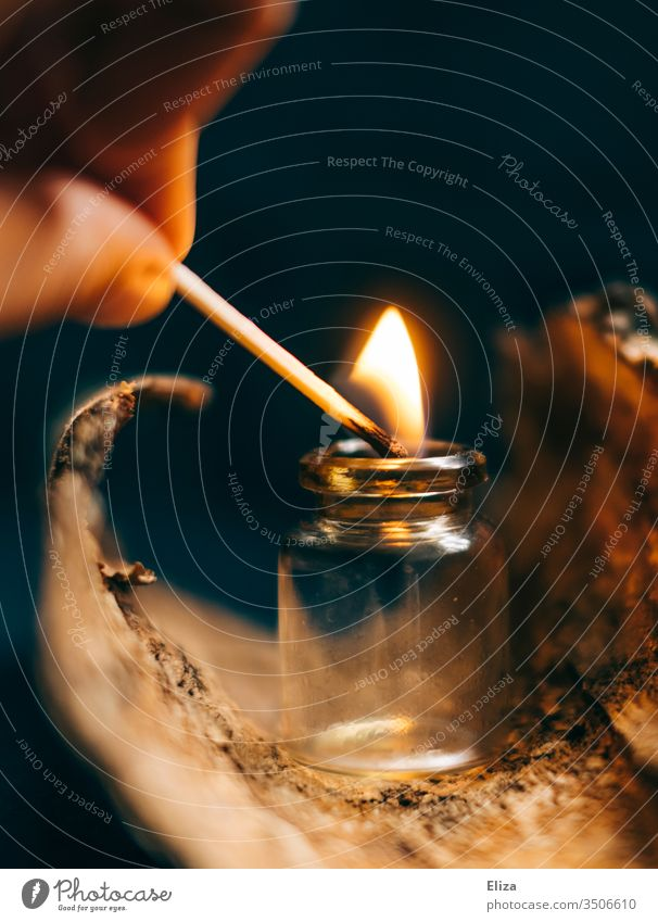 Match experiments Flame glass vials Burn Conserve Wood atmospheric Ignite Blaze Fire Warmth Kindle