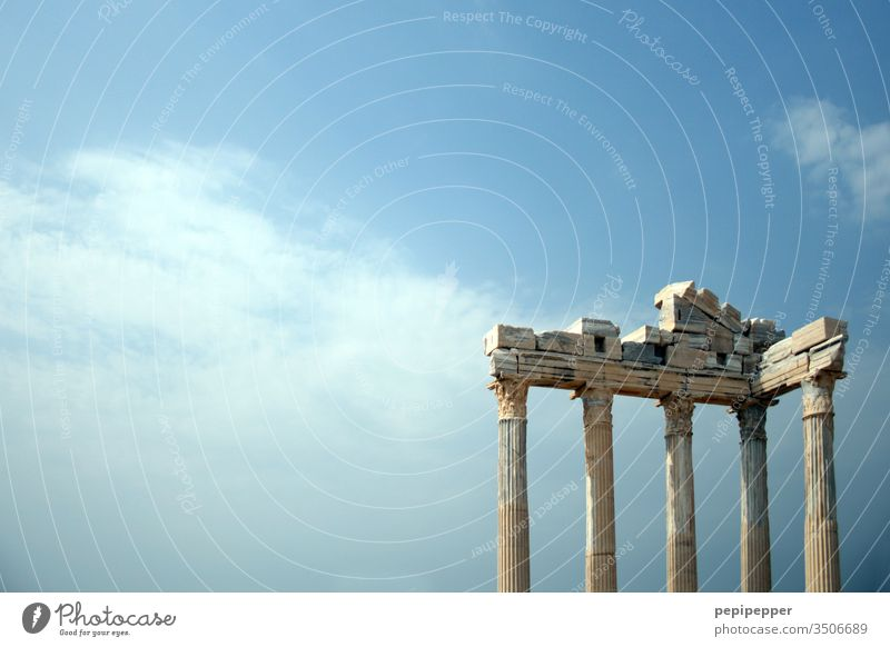 Temple of Apollo, Side, Turkey Mediterranean sea Vacation & Travel Exterior shot Tourism Architecture Tourist Attraction Manmade structures Religion and faith