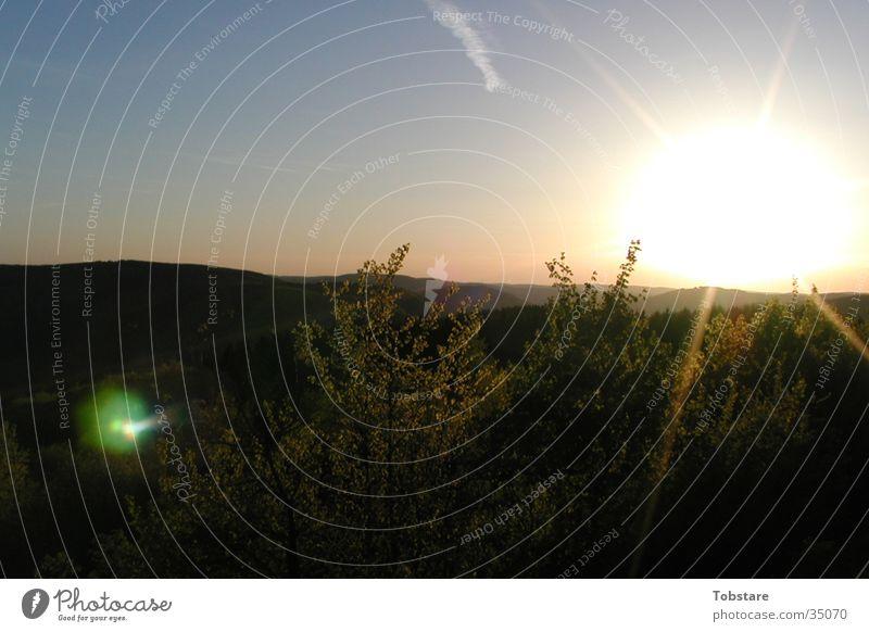 Nature Sun Mountain Placed Sauerland