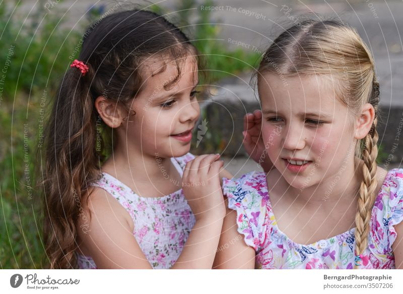 Two sisters play games Sisters Friends mystery children Summer hair