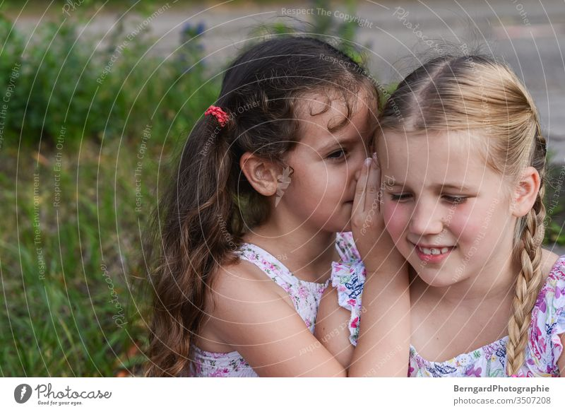 Two sisters play games children secretive Mysterious Friends Sister Summer gilrs best friend