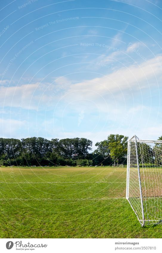 american soccer, European football, feild with net and green grass soccer field competitive sport lawn textured pattern sports member line color ground