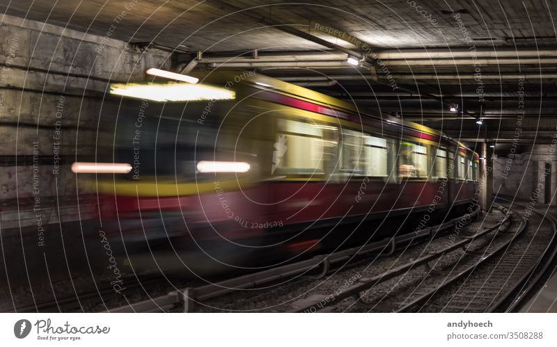 Berlin tunnel systems for infrastructure for public transport abstract architecture arrival Background blur blurred Business city commuter connection departure